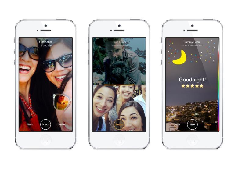 Die Facebook-App Slingshot ist nach dem Vorbild der Foto-Messenger-App Snap- chat gebaut, konnte ihren Mega-Erfolg aber nicht erreichen.