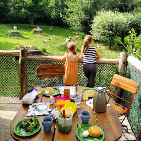 Unser Abendessen im Storchennest.